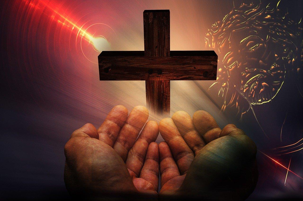 cross, hands, god