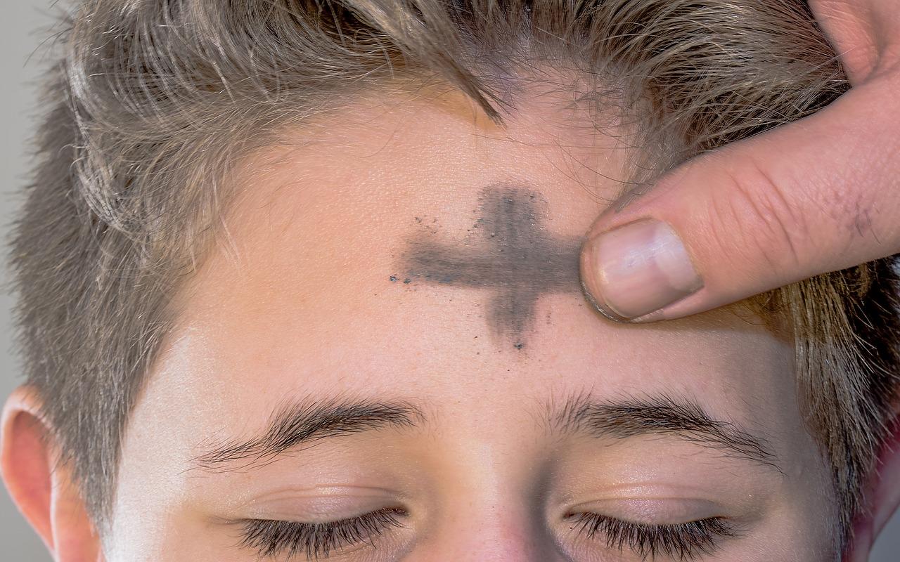 aschermittwoch, ash cross, sign of the cross