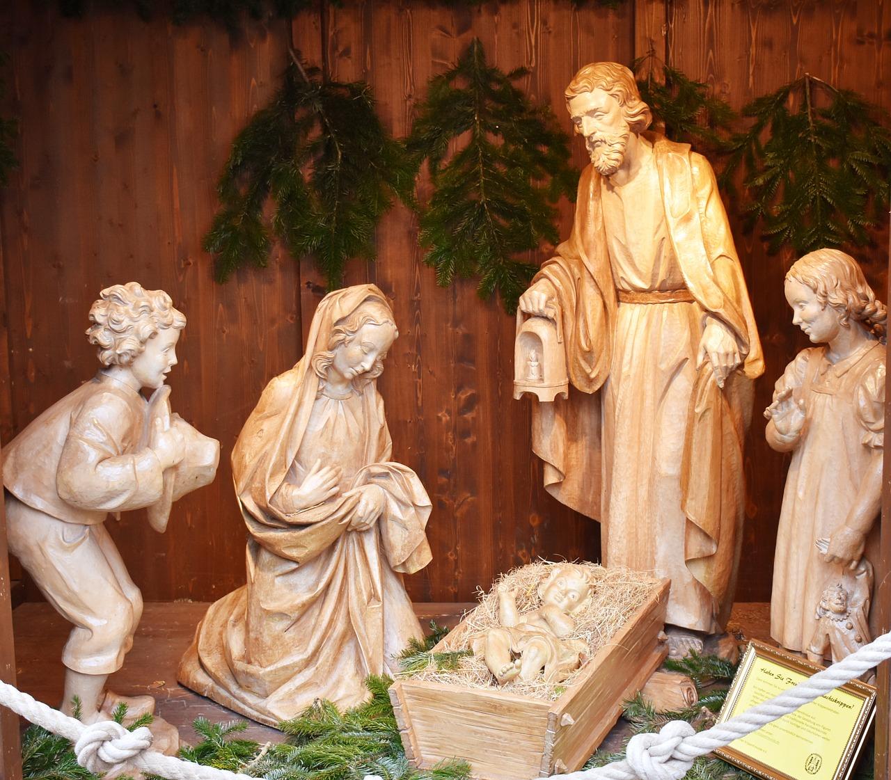 crib, christmas, jesus