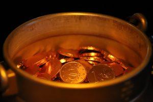 treasure, gold, pot