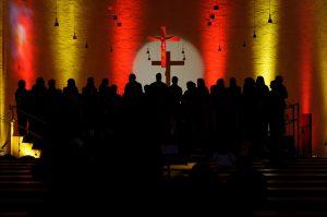 choir, church choir, light