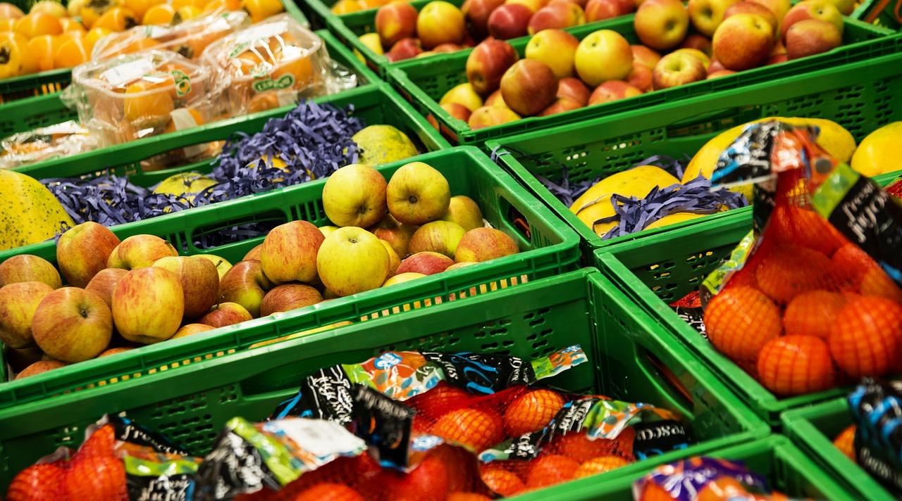 supermarket, vegetables, food