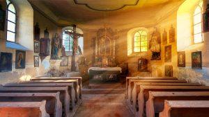church, glow, hope