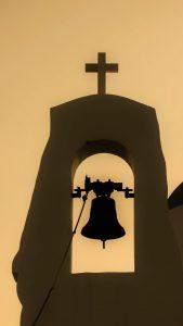 sunset, church, bell-1579115.jpg